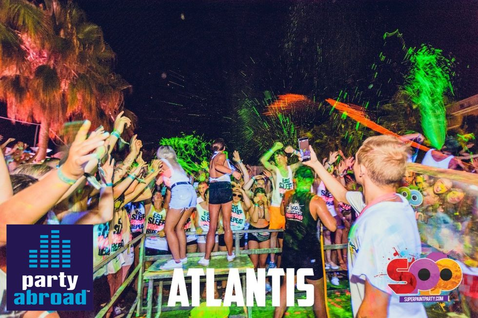 Kavos Clubbing Calendar - Kavos Nightlife - Kavos Events - Super Paint Party Kavos - Atlantis Club K