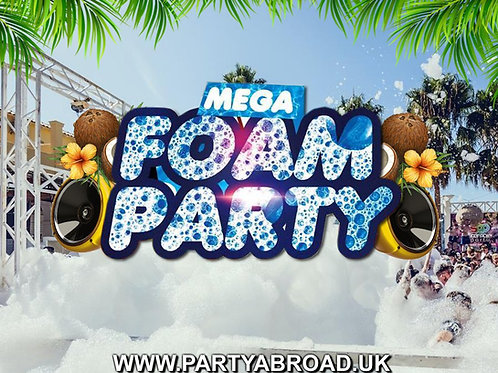 Mega Foam Party 2021 | Atlantis Kavos | July 28th Wed | Entry Ticket