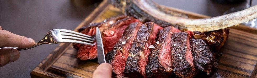The Steakhouse Brings Us The Tomahawk Steak | Kavos Resteaurants | Kavos Food | Eating Out In Kavos Corfu