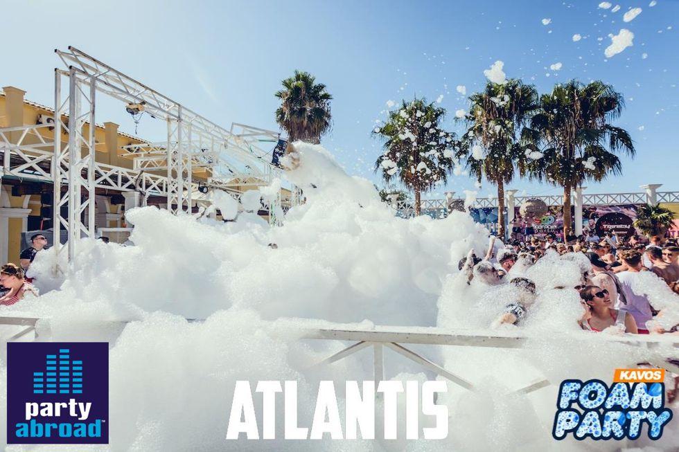 Kavos Foam Party - Mega Foam Party Atlantis - Kavos Party Callendar - Kavos Events - Kavos Clubbing