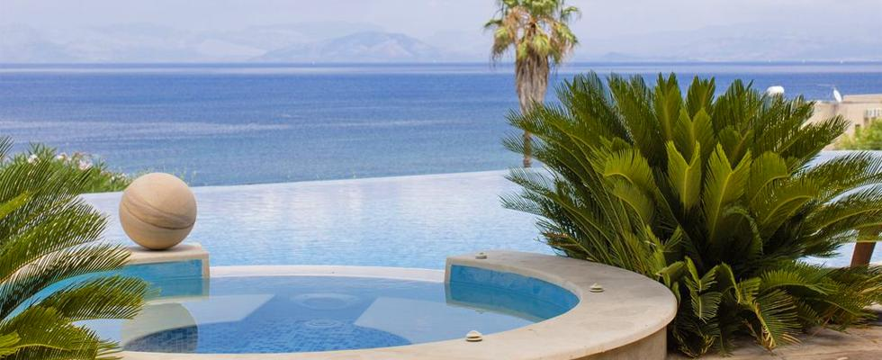 Villa With Infinity Pool And Jacuzzi In Corfu Greece - La Pearl Villa Messonghi