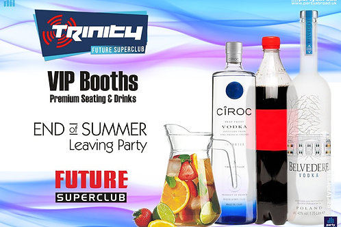 VIP Booth | Closing Party | Trinity 2019 | Future | Kavos | Sep 11th Wed