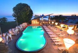 Island Beach Resort Kavos Corfu - Panoramic poolside Shot