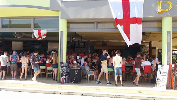The Pulse Bar In Kavos Maxes Out As English Fans Jam The Place Ahead Of Crusial Match Between England And Sweden