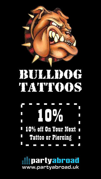 Bulldog Tattoos And Piercings Kavos Disc