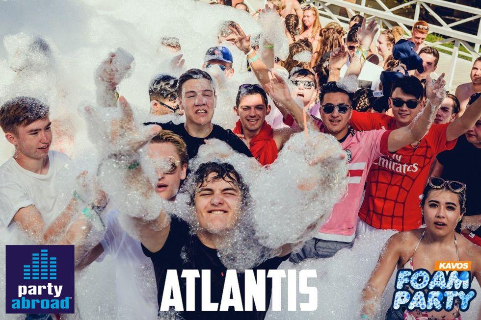 Atlantis Kavos Corfu - Mega Foam Party - Kavos Events - Kavos Party Calendar - Kavos Clubbing