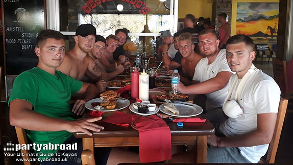 A Good Place To Eat With Friends In Kavos Corfu