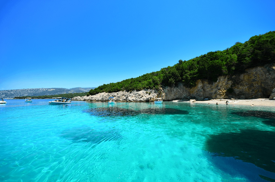 Blue Lagoon BBQ Cruise - Kavos Excursions - Kavos Boat Trips - BBQ Cruise To Syvota And Mourtos Isla