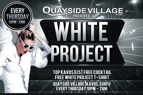 White Project Party 2020 | Quayside Kavos | June 11th Thu | Entry Ticket