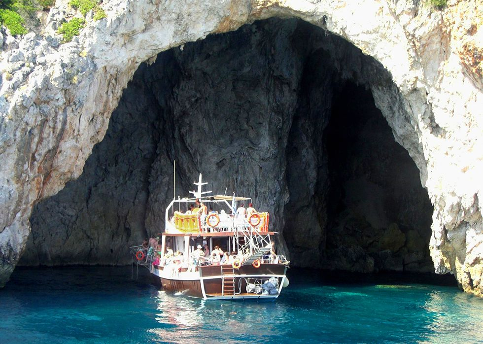 Captain Theo's Mythical Cruise To Posidon's Bay - Kavos Big Boat Cruise - Kavos Boat Excursions - Ka