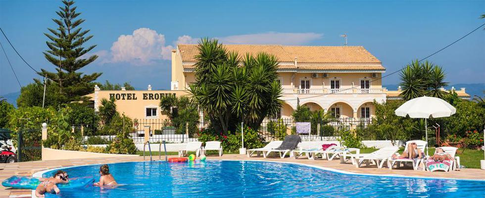 Erofili Hotel Kavos Corfu - Kavos Rooms - Kavos Apartments - Kavos Studios - Places To Stay In Corfu