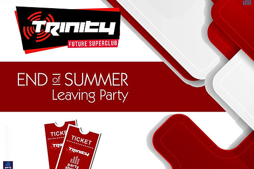 Closing Party | Trinity 2020 | Future Superclub Kavos | Wed 9th Sep | E-ticket