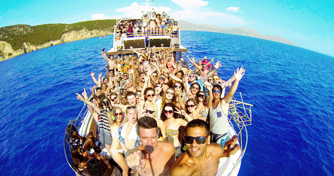 Booze Cruise Boat Party Kavos