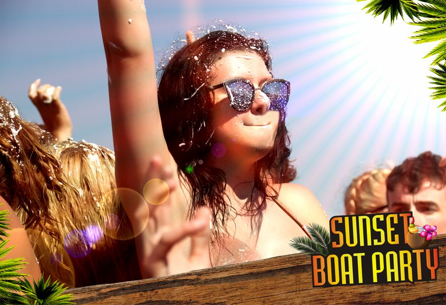 Amazing Party Boat - Sunset Booze Cruise Kavos - Captain Theo Kavos Corfu - Awesome Boat Party - Ult