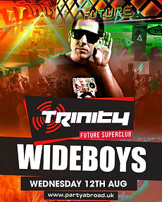 The Wideboys Trinity Event Kavos August 19th 2020