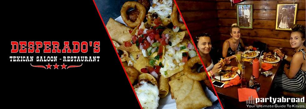 Desperado's Mexican And Texican Saloon Restaurant In Kavos Corfu