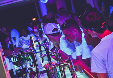 All you can drink at the White Project party in Kavos Corfu