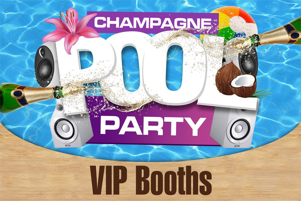 VIP Booths - Champagne Pool Party - Quayside Village Kavos