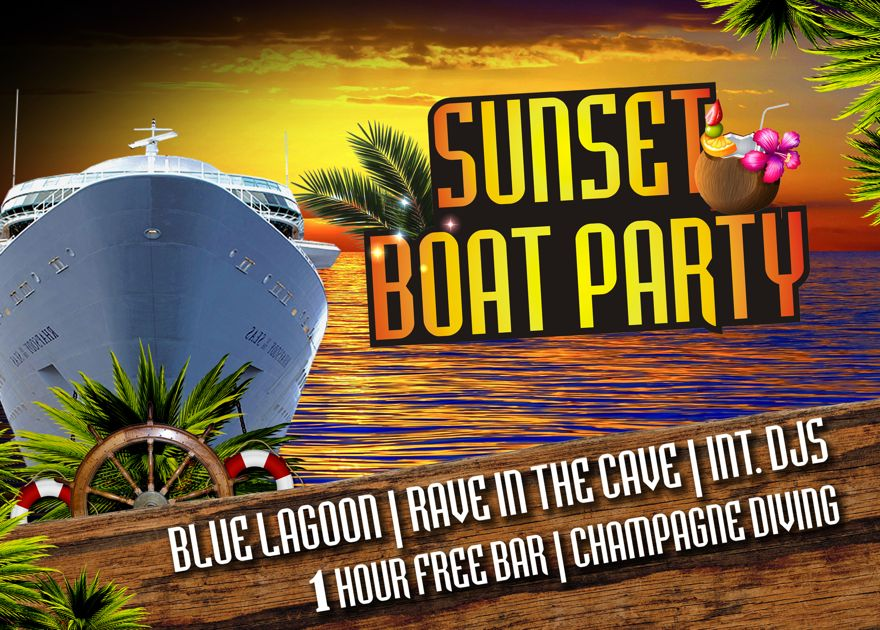 Sunset Boat Party Kavos - Captain Theo Kavos Corfu - Ultimate Party Experience - Awesome Booze Cruis