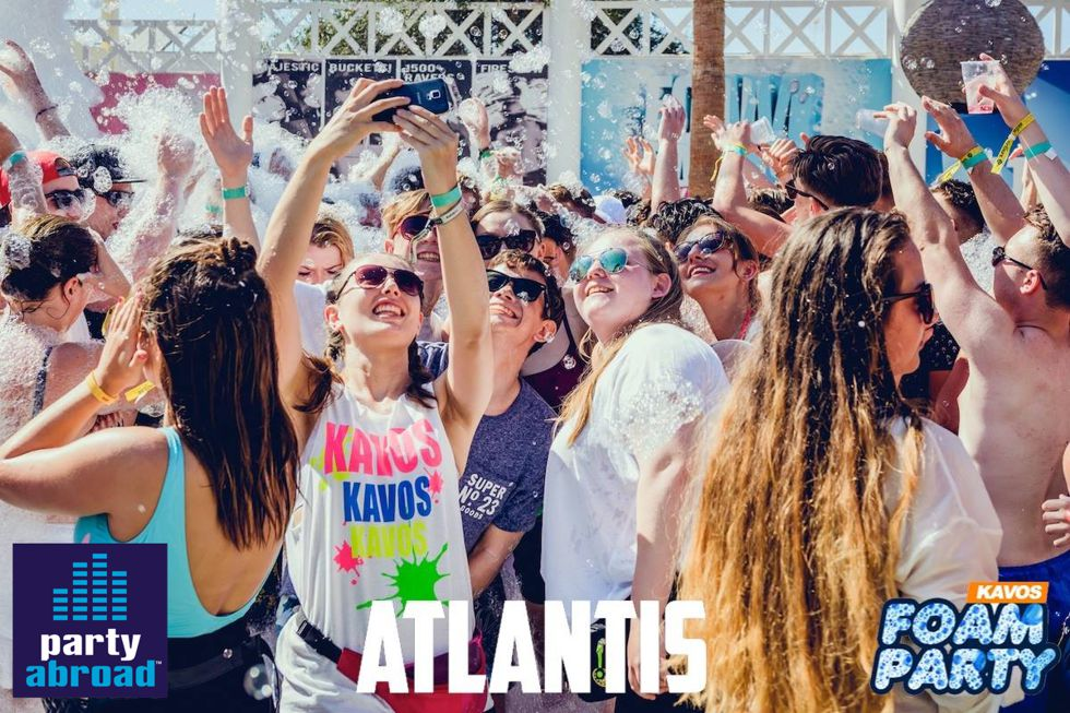 Kavos Parties - Kavos Events - Mega Foam Party Kavos - Atlantis Beach Club Kavos Corfu