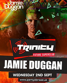 Jamie Duggan Trinity Event Kavos September 2020
