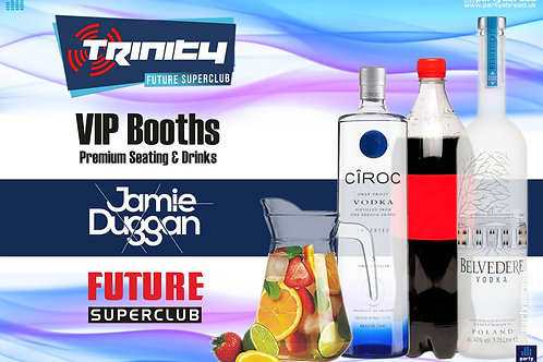 VIP Booth | Jamie Duggan | Trinity 2019 | Future | Kavos | Aug 28th Wed