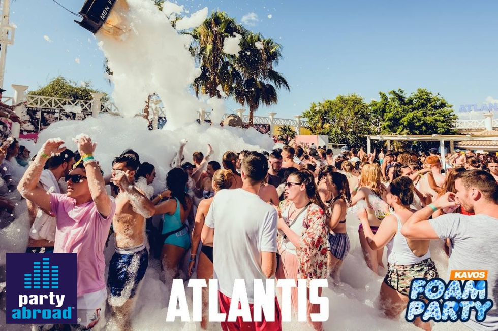 Kavos Event Calendar - Kavos Party Life - Mega Foam Party Kavos - Atlantis Club Kavos Corfu