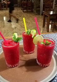 Very Fruity Cocktails At Desperado's Texican Saloon In Kavos Corfu