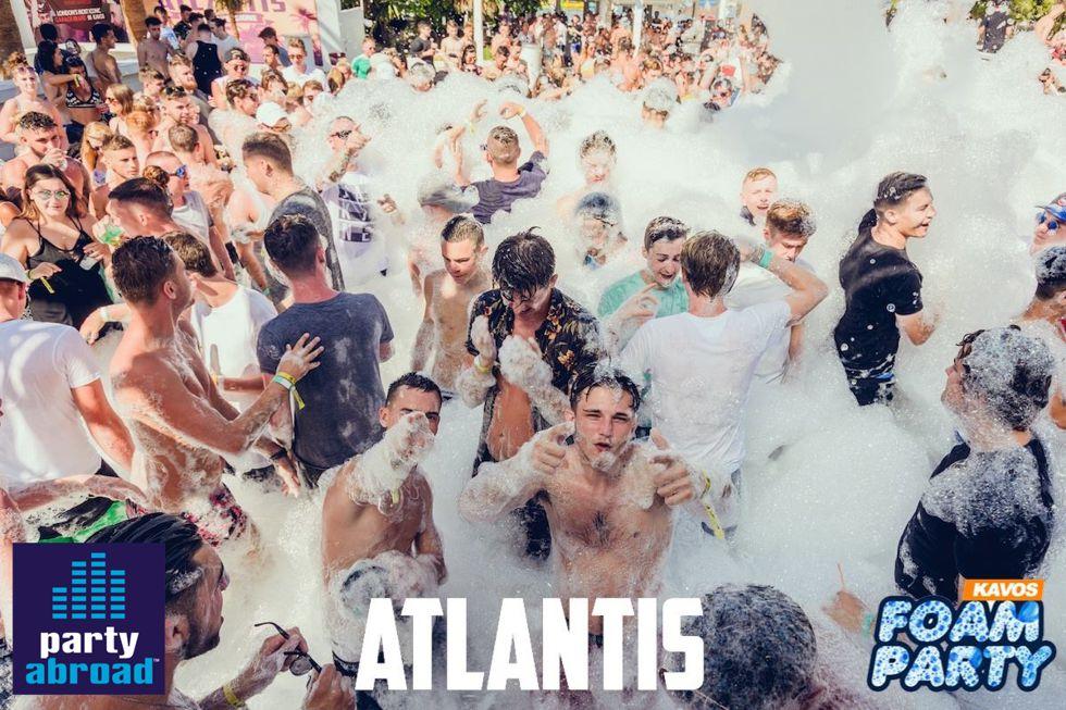 Kavos Mega Foam Party - Kavos Clubbing - Kavos Events - Kavos Party Calendar - Atlantis Kavos Corfu