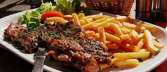The Steak House Kavos Steak Dish