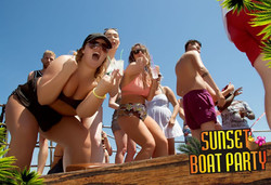 Sunset Boat Party Kavos Corfu - 1 Hour Free Bar - Sunset Booze Cruise - Party On A Boat In Kavos - A