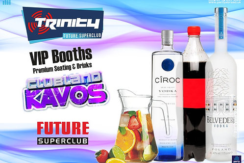 VIP Booth | Clubland | Trinity 2019 | Future | Kavos | Aug 7th Wed
