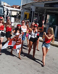 English Girls In Kavos Ditch Bikinis For English Flags Ahead Of World Cup Match