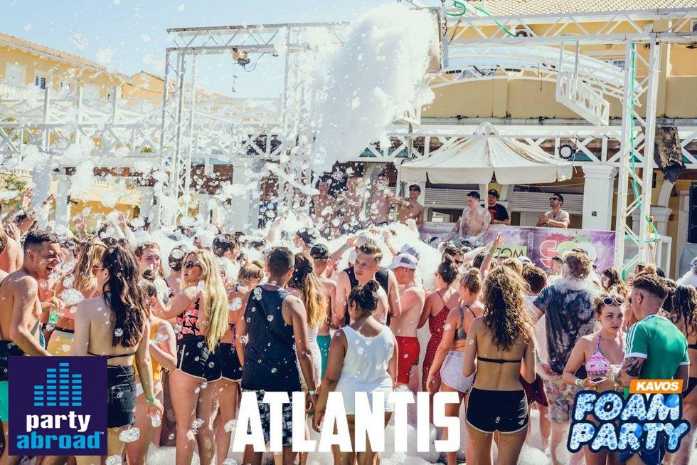 Mega Foam Party Atlantis - Kavos Events - Kavos Party Calendar - Kavos Clubbing - Atlantis Club Kavo