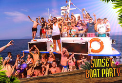 Sunset Booze Cruise Kavos - Captain Theo Kavos Corfu - Awesome Cruise - Ultimate Kavos Experience -