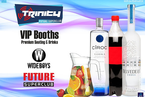 VIP Booth | The Wideboys | Trinity 2019 | Future | Kavos | Sep 4th Wed