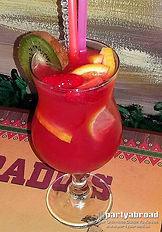 Freshly Made Cocktails At Desperado's Restaurant In Kavos Corfu