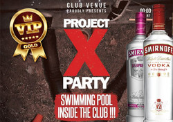 Project X Party VIP Table - Swimming Pool Inside The Club - Kavos Clubbing - Kavos NightLife