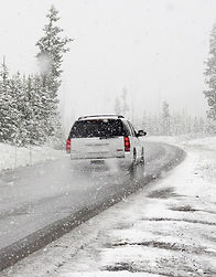 Snow at Corfu Town disrupts traffic 2019