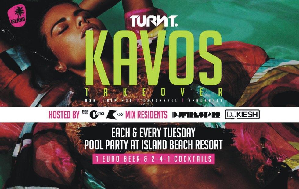 Turnt Pool Party Kavos - Kavos Pool Parties - Island Beach Resort - RnB - HipHop
