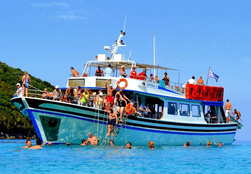 Poseidon's Bay - Paxos - Antipaxos - Voutoumi - Vrikka - 3 Caves - Kavos Excursions - Kavos Attracti