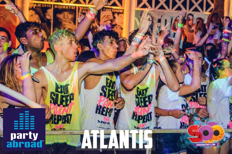 The Biggest Paint Party In Kavos - Atlantis Club Kavos Corfu - The Club Scene In Kavos