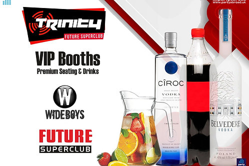 VIP Booth | Wideboys | Trinity 2020 | Future | Kavos | Aug 19th Wed