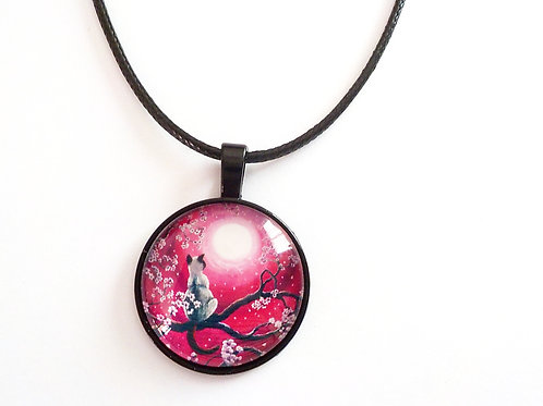 collier 25 mm 25/Lune rose