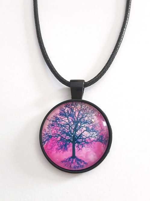 collier 25 mm 25/Lila