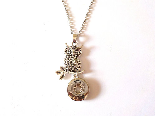 collier snap 18 mm hibou BS27