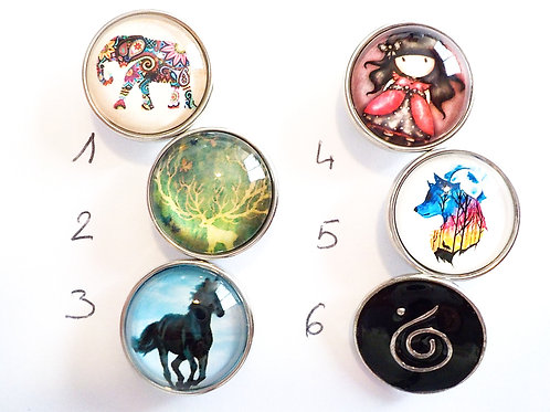 cabochon snap 18 mm LOTS2