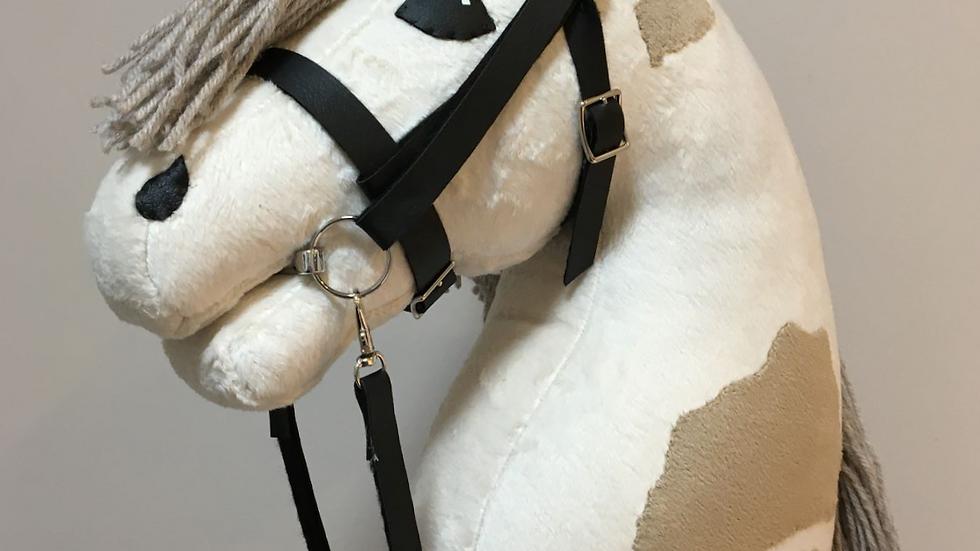 Kirjava keppihevonen kermanvalkoinen/beige