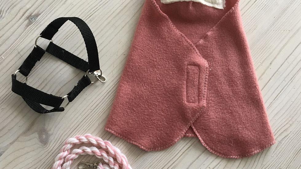 Pink warp, halter and halter rope set for pony