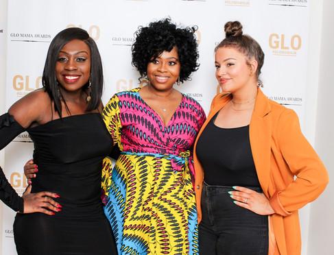 1st Annual GLOMAMA Award Nominee Samira Scholfied alongside GLOMAMA Winner Ola Adegbenro (Colourful Beginnings)